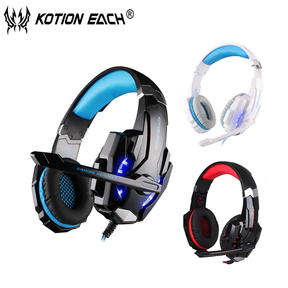 KOTION EACH G9000 3.5mm Gaming Headset Wired earphone Game headphone with Mic LED Light  For Laptop Tablet / PS4 / Mobile Phones<br><br>Aliexpress