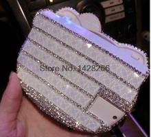 2017 Handheld Calculator Rhinestone Bling Handmade Stuff Calculator With Mirror Cute Folding Calculadora Christmas Gifts(China)
