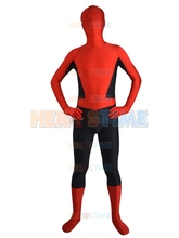 halloween costume Spiderman costume Classic Red Spider-man Design Zentai Full body Suit free shipping Free Shipping
