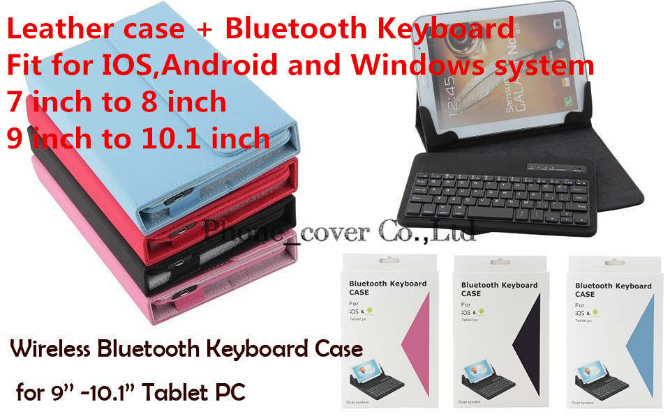 Universal Bluetooth Keyboard pu Leather Case cover For Acer Iconia Tab 10 A3-A30 A3-A20 Iconia A200 A210 keyboard tablet case<br>
