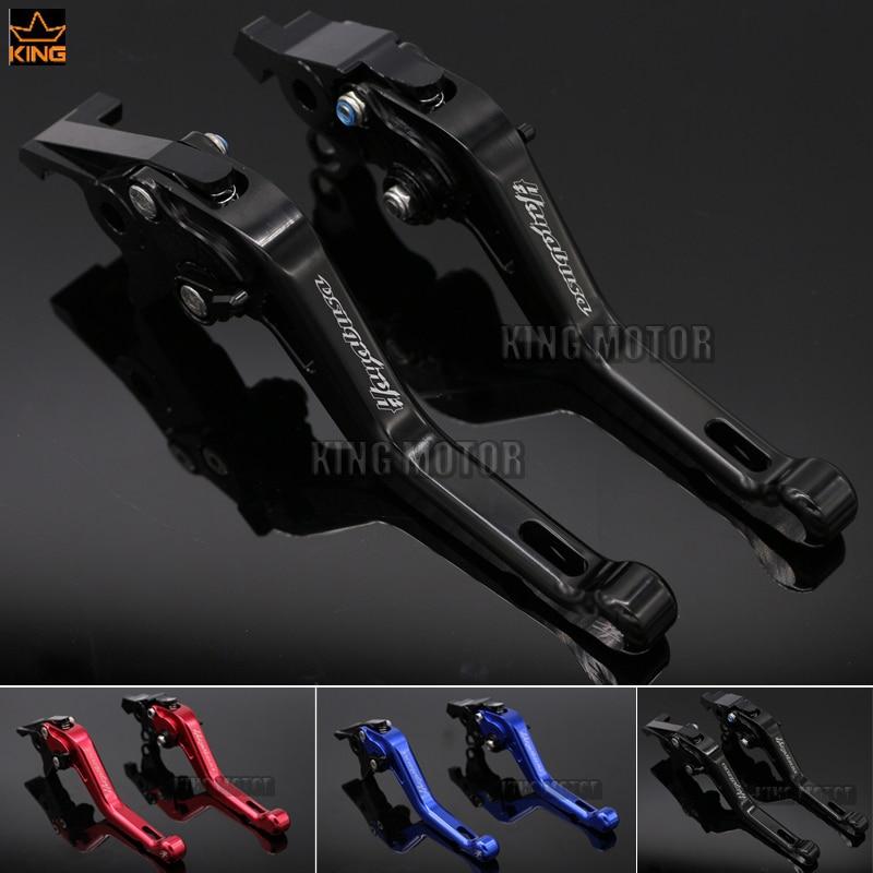 Hot Sale Motorcycle Accessories LOGO HAYABUSA For SUZUKI GSX1300R 1999-2007 Short Brake Clutch Levers Black<br>