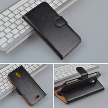 High Quality Leather Wallet Flip Case Cover For Lenovo S660 Phone Cover with Stand Function and ID Card Holder 4 Colors
