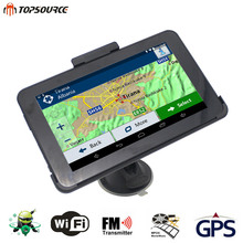TOPSOURCE 7'' Car GPS Navigation Android 4.4 Quad-Core 16GB/512MB WIFI/FM Tablet pc Truck gps Navigator Navitel Europe Map Free