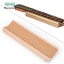 Guitar Neck Rest Caul Neck Rest Long Neck Support Guitar Fretwork Cork Lined