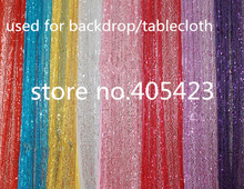 1.5m width Sparkly Gold silver purple red pink Tiffany Blue Sequin Glamorous for Wedding party Decoration Tablecloth Backdrop
