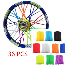 36Pcs/sets Colorful Florescent Motorcycle Wheel Rim Cover Spoke Skins Wrap Tubes Universal for Dirt Bike ATV Quad Mini Motor