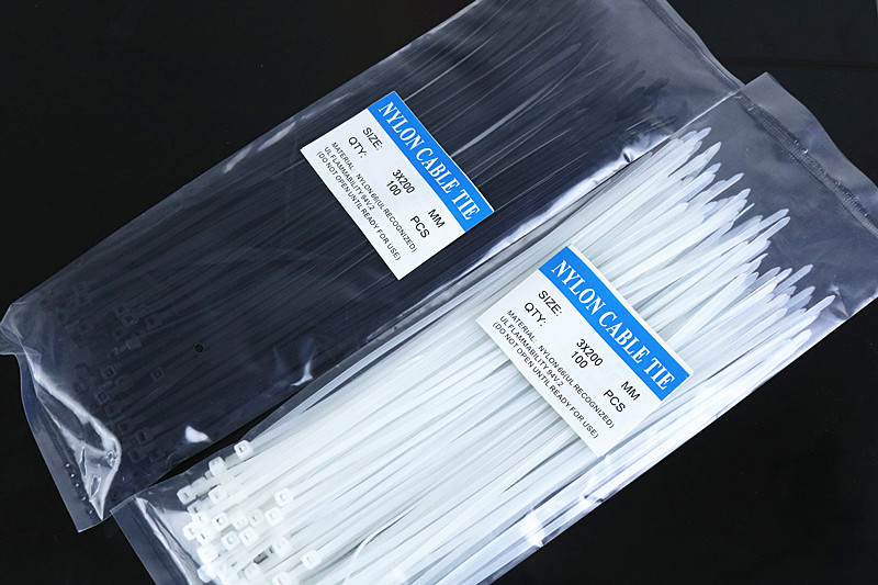200mm x 3mm 100pcs Nylon Cable Tie Zip
