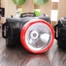 Plastic Super Bright High Capacity Rechargeable Outdoor Headlamp Black and Red Color Headlight One Lamp Head 1000mAH Hot Sale(China)