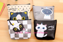NEW CUTE 4Models- PU Cats 12CM Pocket Coin BAG ,Coin Purse Wallet Pouch Holder ; Women's Hand Change Purse Pouch BAG