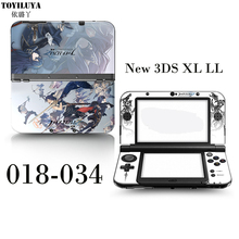 Monster Hunter Hunting Color Sticker Protective Skin Sticker Blue Stickers For Nintendo New 3DS XL LL For New 3DS XL LL Control