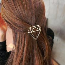 Hot Hairpins Lovely Gold Silver Metal Hair Clips Crystal Shape for Women Jewelry Accessories Gift  Hair Jewelry