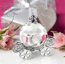 Free Shipping 10pcs Fairytale Theme Choice Crystal Pumpkin Carriage Party Favors Birthday Party Favors Baby Shower Wedding Gifts