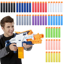 10Pcs Multicolor 7.2cm EVA Soft Hollow Hole Head Refill Darts Toy Gun Bullets for Nerf Series Blasters Kids Gifts Free shipping!(China)