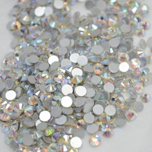 1440pcs AB 3d Glitter Flatback Nail Art Glass Rhinestones Hot Crystal Shinning Sequin Nail Decorations Tips SS3-SS10 TRNRS02