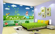 3d wallpaper custom mural non-woven wall sticker 3 d cartoon murals the sound of the rain painting photo 3d wall mural wallpaper