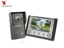 "Yobang Security 7"" Video Intercom Door Phone System Night Version  Video Record Door Phone intercom System with IR camera"