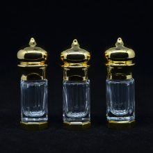 3 ml (1 pieces/lot) Gold And Bronze Color 3 CC Mini Alloy Bottle Vials Sample Test Bottle For Essential Oils Perfume Hot Selling(China)