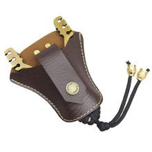 Super cheap Handmade Leatherette Slingshot box bag No deformation Outdoor essential Wear a belt Outdoor Hunting Gadget wholesale