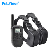 Petrainer 998D-2 Remote Electric Dog Shock Collar 300M Control Dog Training Collar For 2 Dogs(China)