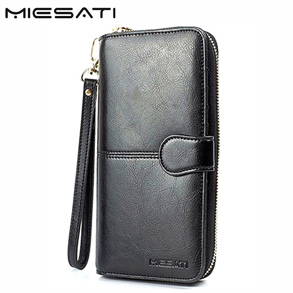 MIESATI 100% genuine leather wallet female womens wallets and purses walet ladies girl small slim brand women clutch bag handbag<br>