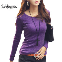 Buy Autumn Plus Size Tee Shirt Women Clothes 2017 Fashion O-neck Sexy Long Sleeve Tops Womens Clothing T-Shirts Casual T Shirt Femme for $10.63 in AliExpress store