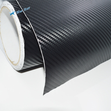 50x300cm 3D Carbon Fiber Vinyl Car Wrap Sheet Roll Film Sticker Decal Sale car styling accessories black/white color options