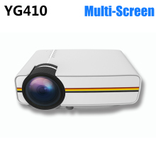 New YG410 Mini LED Projector Mobile Phone Projector Data Cable Connection Multi-Screen Mirroring Video Beamer EZCast Projetor