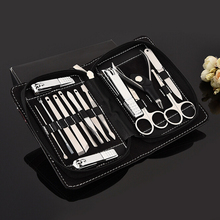 15 in 1 Manicure set Professional nail clipper Finger Plier Nails art Beauty tools scissors knife Best gift for you