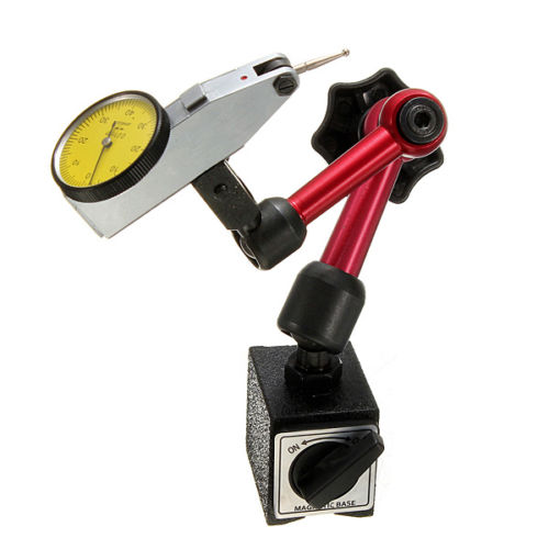 Flexible Magnetic Base Holder Stand + Scale Precision Dial Test Indicator Gauge<br>