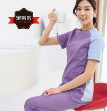 Korean Fashion Medical Scrub Clothes Cosmetic Surgery Hospital Workwear Beauty Shop/Oral Dental Doctors Nurse Overalls Lab Coat