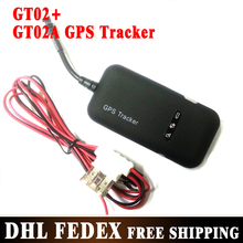 10PCS Promotion Gps Tracker GT02A with FREE monitor Software GT02+ build in MIC works worldwide Free shipping(China)