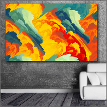 Large Printing Beautiful color cloud Abstract art Wall Art Picture Home Decor Living Room Modern Canvas Print No Frame Paintings(China)