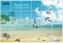 1pcs 60x90cm Summer Time DIY  Korea Wall Stickers Water proof Sheet Kitchen Oil Sticker paper Hot Oil proof  Sticker Cover d409