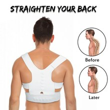 1PC Man and Woman Back Straighten Belt Waist Support Braces Posture Corrector Brace Shoulder Back support Sports Exercise belt(China)
