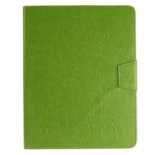 "Lovers dandelion green pattern pu Leather flip Case For apple iPad mini 2 3 4 ipad 2 3 4 Air12 pro 9.7"" cover case"