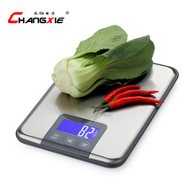 15KG 1g touch screen Digital Kitchen Scale 15kg Big Food Diet Weight Balance Slim Stainless Steel Electronic Scales(China)