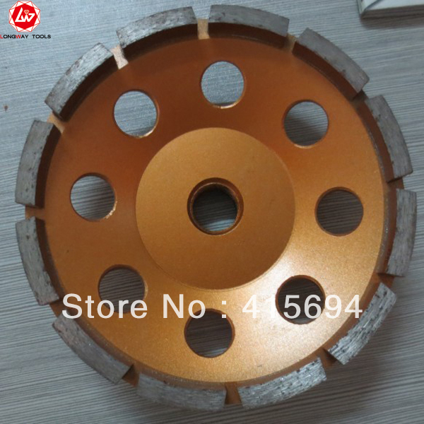 5 single row diamond cup wheel,125mm segmented cup wheel,diamond single row cup wheel,for stone,concrete.Free shipping<br><br>Aliexpress