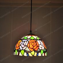 American country Peony Rose small chandelier Tiffany Restaurant Bar sink sunshine real antique glazed lighting lamps(China)