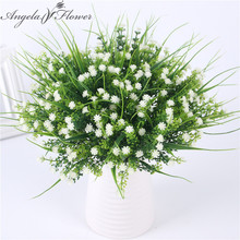 Vivid P.tenuiflora Green Grass plants artificial flower babysbreath simulation flower wedding decoration for home party office(China)