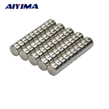 AIYIMA 50pcs Disc 10mm x 5mm Magnet 10*5MM Rare Earth Neodymium Magnets Circular Craft Model Neodimio Magneet Small Magneten