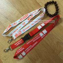 100pcs/lot New products cheap custom printed neck lanyards / polyester lanyard china wholesale with free shipping by UPS(China)