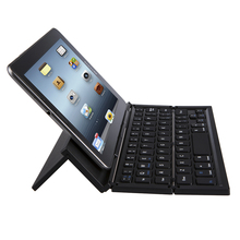 CL-888 Foldable Bluetooth Keyboard Wireless Ultra Slim Pocket Keyboard with Kickstand Universal for Smart Phone Tablet PC