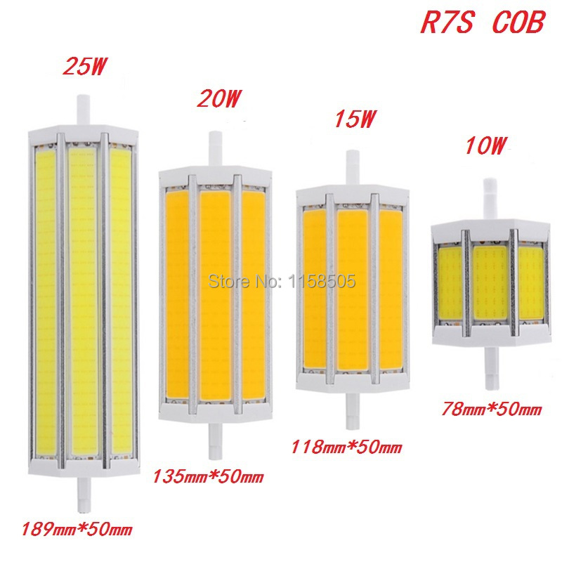 R7S COB led bulb Dimmable LED lights J78 J118 J135 J189 10W 15W 20W 25W lighting lamp 85-265V replace halogen floodlight 5pcs<br><br>Aliexpress