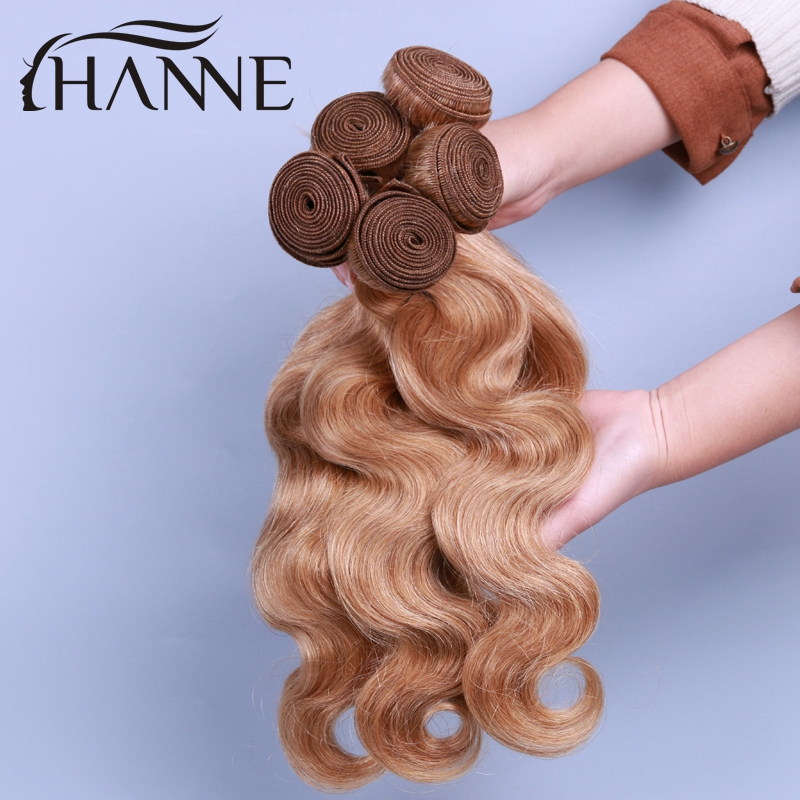 5 bundles of virgin brazilian hair body wave HANNE 27# pure color honey blonde human hair weave remy human hair extensions<br><br>Aliexpress