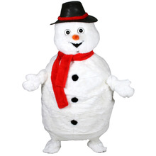 fat white snowman mascot costumes party birthday gift Halloween party Fancy Dress school team sport Adult Size(China)