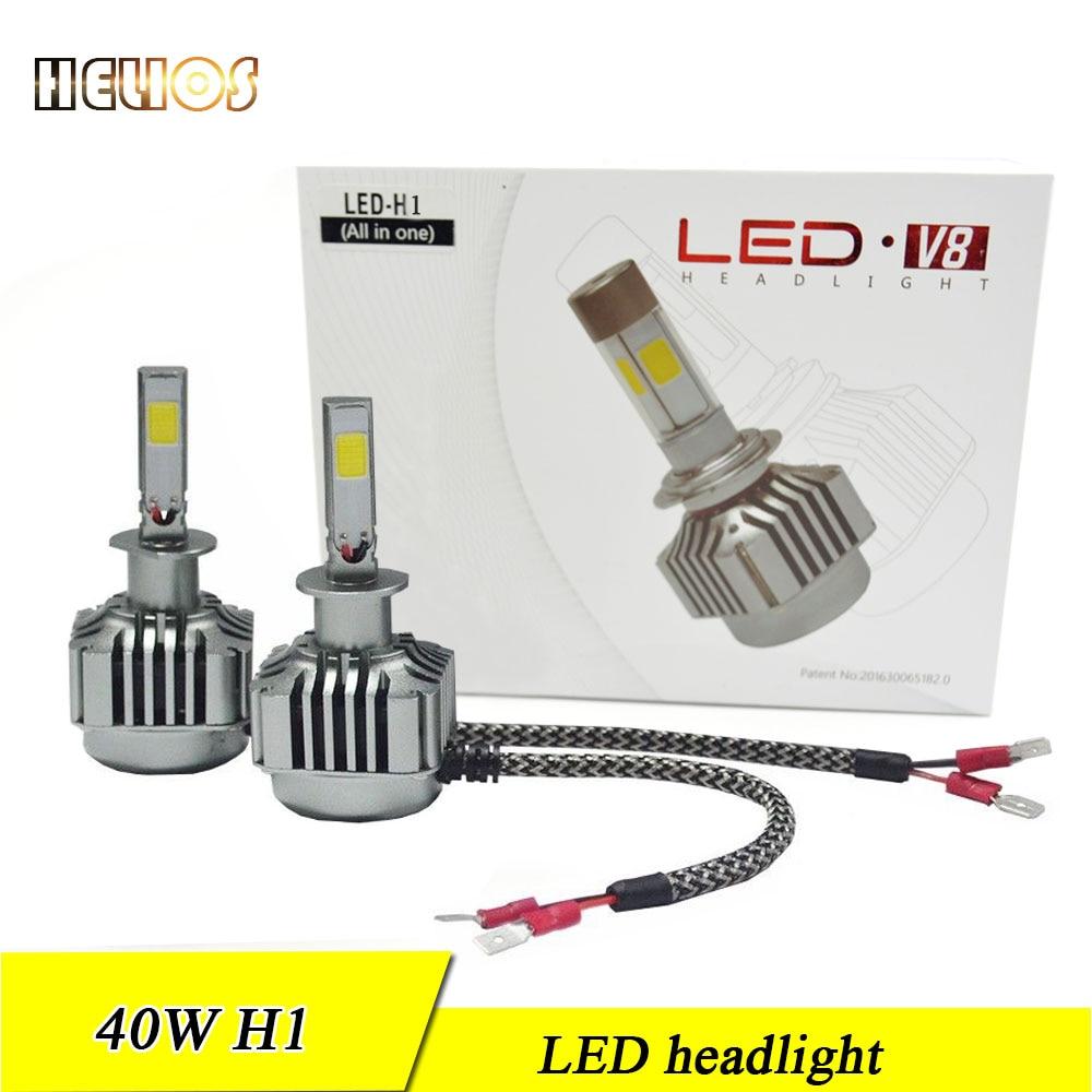 2x 40w car led headlight kit  beam car headlight 12v 24v h1 h11 h7 hb3 hb4 white new car styling  hid xenon kit<br><br>Aliexpress