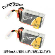 Buy 2Pcs TATTU 4s Lipo Battery 14.8V 1550mAh Lipo 45C Battery XT60 Plug Batteries Quadcopter RC Car Quadrocopter Mini Drone for $45.69 in AliExpress store