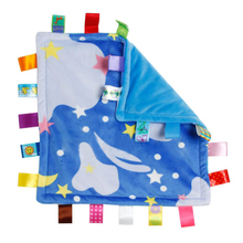 30*30cm Baby Appease Towel Baby Calm Wipes Baby Towel Towel Blanket Cute Doll Plush Toys A5370(Night sky)(China)