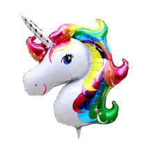 Large Unicorn foil balloons animal helium balloon globos inflatable classic toys birthday party decorations kids party supplies