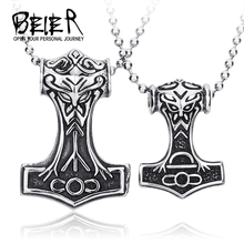316L STAINLESS Steel Fashion Pendant Mens Nordic Myth Thor Big/small Jewelry High Quality bp8-080(China)
